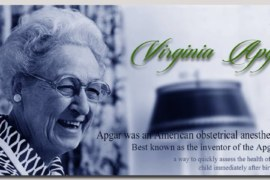 Celebrating the 109th birthday of Dr Virginia Apgar