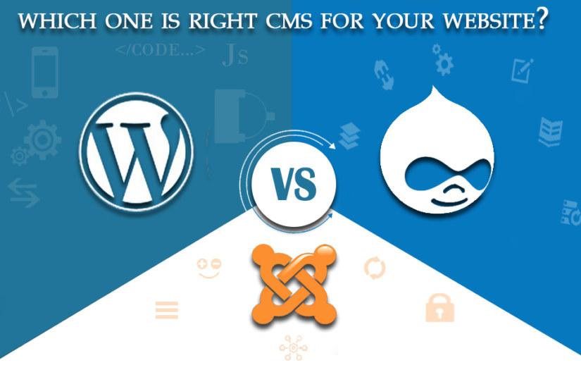 WordPress vs Joomla vs Drupal : Choose the right CMS