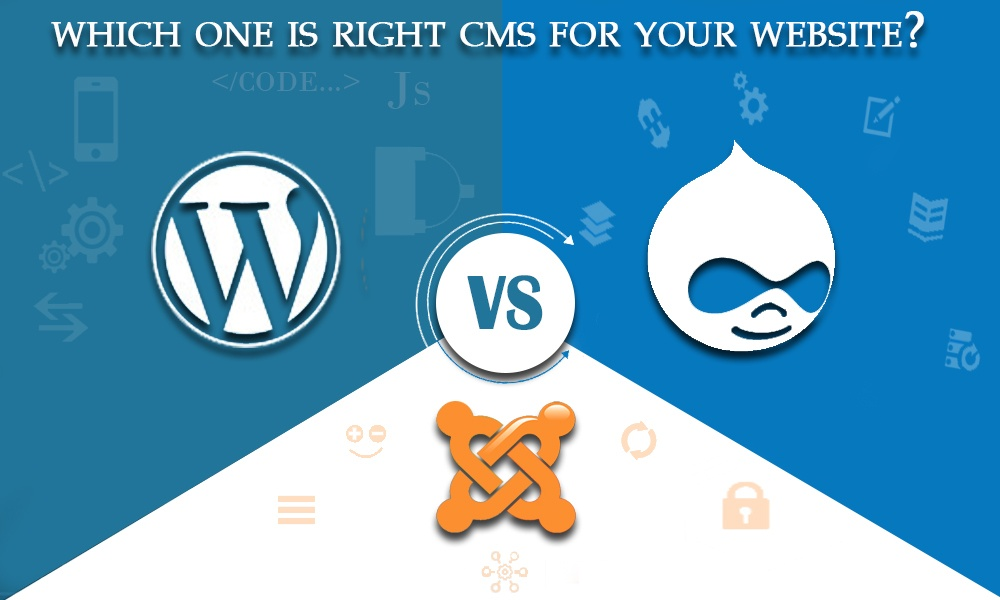 WordPress vs Joomla vs Drupal : Choose the right CMS